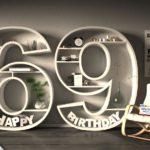 Kostenlose Geburtstagskarte Happy Birthday mit Spruch zum 69. Geburtstag