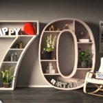 Kostenlose Geburtstagskarte Happy Birthday mit Spruch zum 70. Geburtstag
