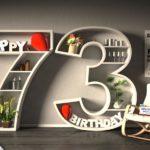 Kostenlose Geburtstagskarte Happy Birthday mit Spruch zum 73. Geburtstag