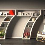 Kostenlose Geburtstagskarte Happy Birthday mit Spruch zum 77. Geburtstag