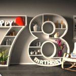 Kostenlose Geburtstagskarte Happy Birthday mit Spruch zum 78. Geburtstag