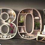 Kostenlose Geburtstagskarte Happy Birthday mit Spruch zum 80. Geburtstag