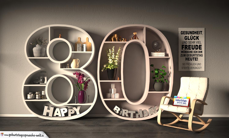 Geburtstagswunsche 80 geburtstag kostenlos