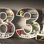 Kostenlose Geburtstagskarte Happy Birthday mit Spruch zum 83. Geburtstag