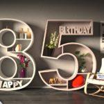 Kostenlose Geburtstagskarte Happy Birthday mit Spruch zum 85. Geburtstag