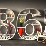 Kostenlose Geburtstagskarte Happy Birthday mit Spruch zum 86. Geburtstag