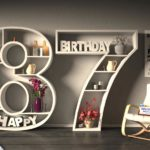 Kostenlose Geburtstagskarte Happy Birthday mit Spruch zum 87. Geburtstag