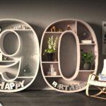 Kostenlose Geburtstagskarte Happy Birthday mit Spruch zum 90. Geburtstag