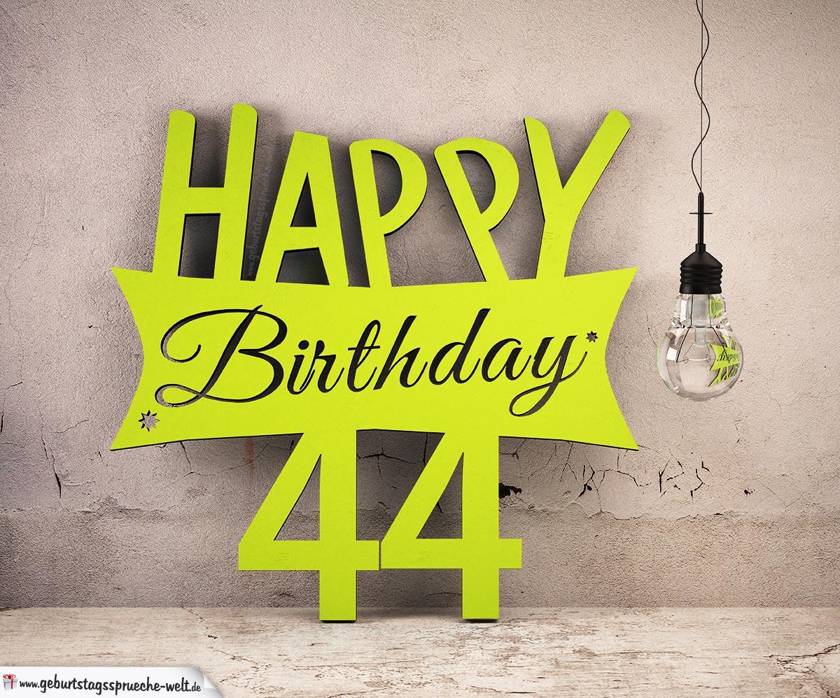holzausschnitt happy birthday 44 geburtstag spruch. Black Bedroom Furniture Sets. Home Design Ideas