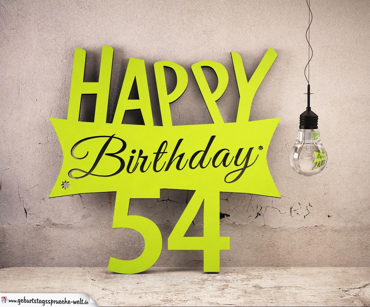 54 Geburtstag