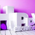 3D Happy Birthday Schriftzug mit Luftballon - 66 Geburtstag